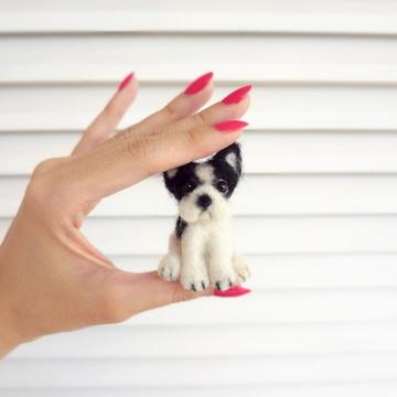 Bulldog Francês - Miniatura de cachorro - 6 cm
