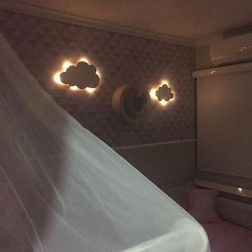 KIT Nuvens P e M Luminosas LED Decorativa