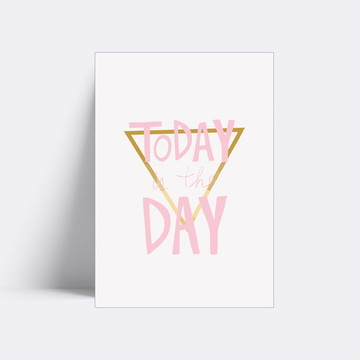 Placa decorativa/ TODAY IS THE DAY 28