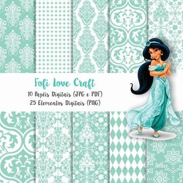 Papel Digital Princesa Jasmine - Cód 245