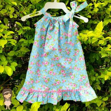 Vestido para bebê com alças