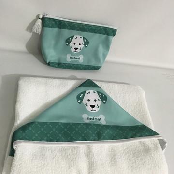 Toalha de Banho e Necessaire Infantil Personalizadas