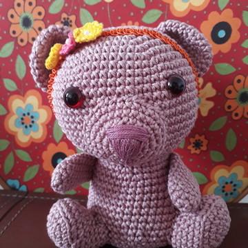 Ursinha rosa amigurumi