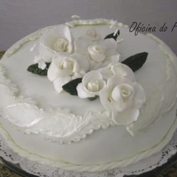 Topo de bolo / flores de açúcar