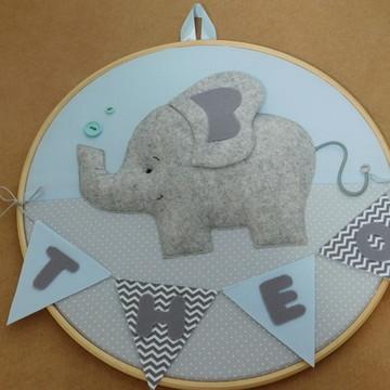 Porta maternidade em bastidor elefante 2