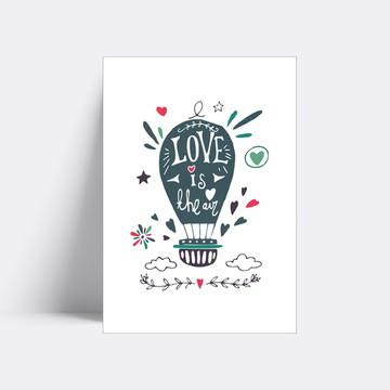 Placa decorativa/ LOVE IS THE AIR 106