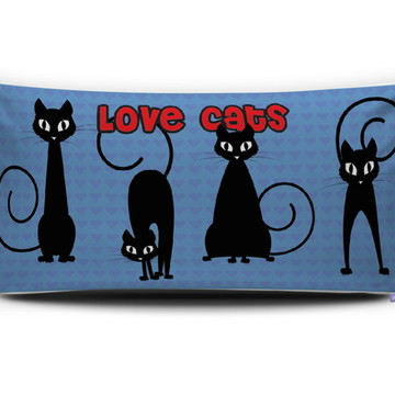 Almofada GATOS Love Cats (azul) Personal Presentes