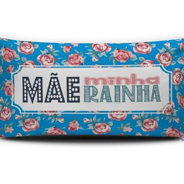 Almofada MÃE MINHA RAINHA (azul) Personal Presentes