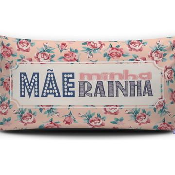 Almofada MÃE MINHA RAINHA (bege) Personal Presentes
