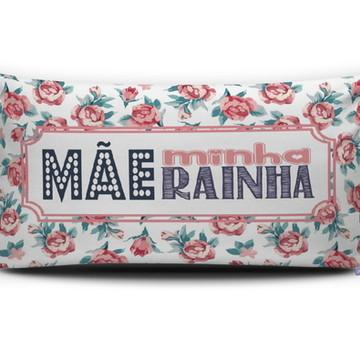 Almofada MÃE MINHA RAINHA (branca) Personal Presentes