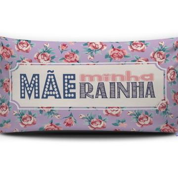 Almofada MÃE MINHA RAINHA (lilás) Personal Presentes