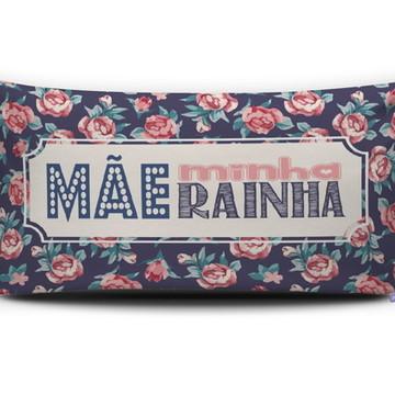 Almofada MÃE MINHA RAINHA (azul escuro) Personal Presentes