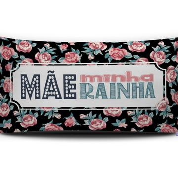 Almofada MÃE MINHA RAINHA (preta) Personal Presentes