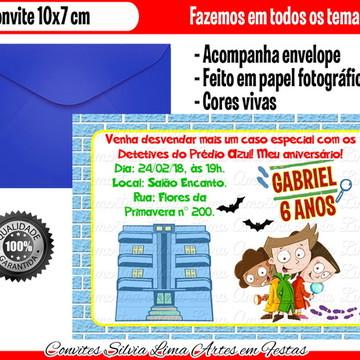 Convite Detetives do Prédio Azul
