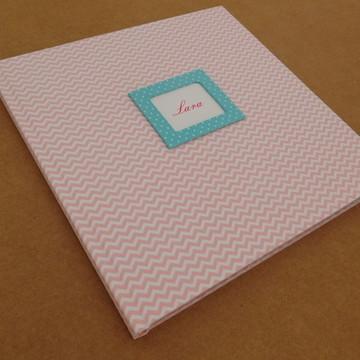 Livro Do Bebê chevron rosa 1