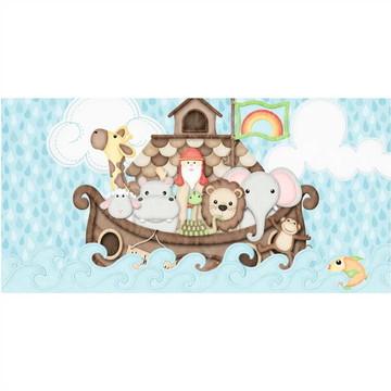 Painel de Festa Aniversario Banner Arca de Noe Animais