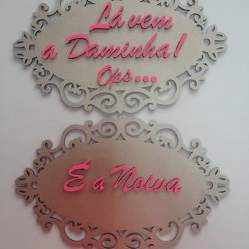 Plaquinhas para Casamento Personalizada