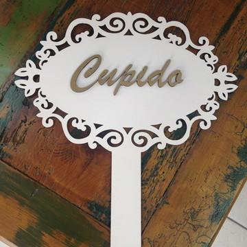 Plaquinha Com Cabo Cupido