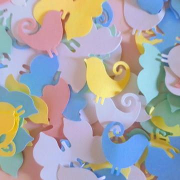 Passarinhos Scrapbook- Decoração de Lembrancinhas Passarinho
