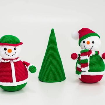 Amigurumi boneco de neve