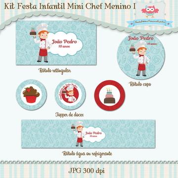 Kit Festa Infantil Mini Chef Menino I