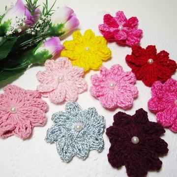 Aplique Flor Crochê