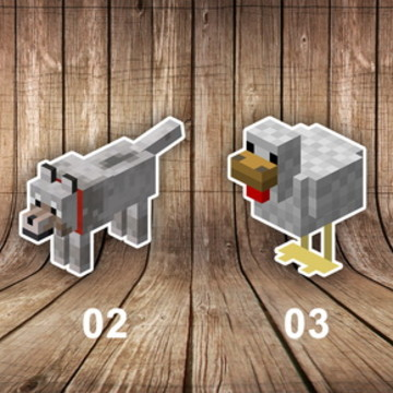 Aplique Minecraft 5 cm