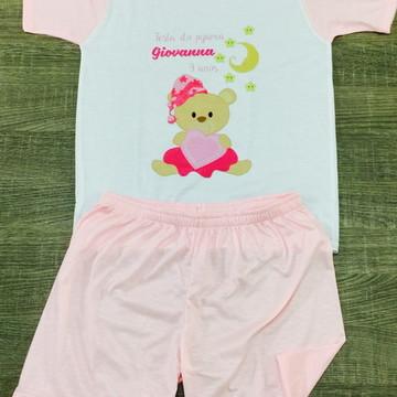 pijama personalizado ursinha