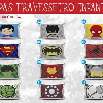 Capa P/ Travesseiro infantil Hérois