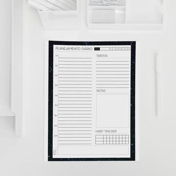 Planner diário coleção minimalista galáxia - A5
