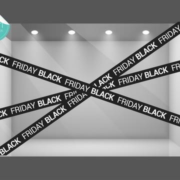 Adesivo Vitrine Loja - BLACK FRIDAY
