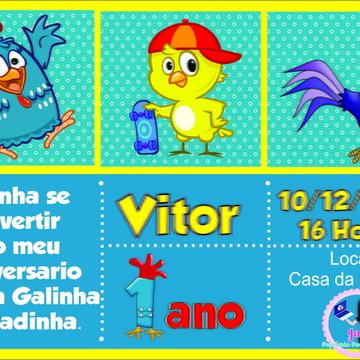 Convite Digital - Galinha Pintadinha