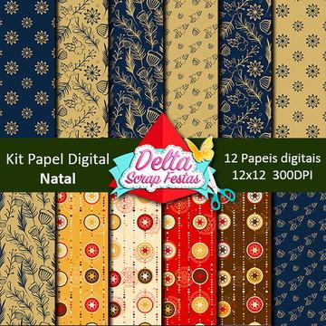 Kit Papel Digital Natalinos