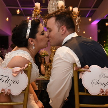 Placa cadeira dos noivos Arabesque