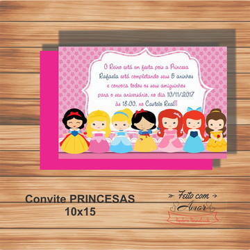 CONVITE PRINCESAS 10X15