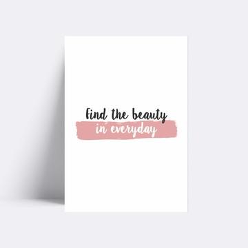 Placa decorativa / FIND THE BEAUTY 209