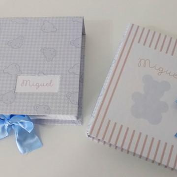Livro do bebê personalizado com caixa tema ursinhos