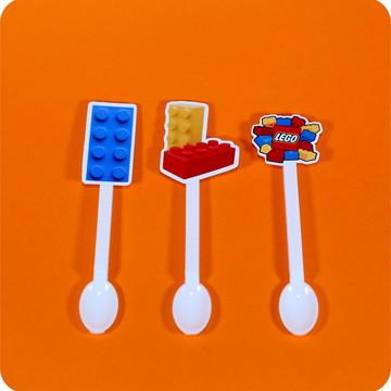 Colher de brigadeiro Decorada LEGO