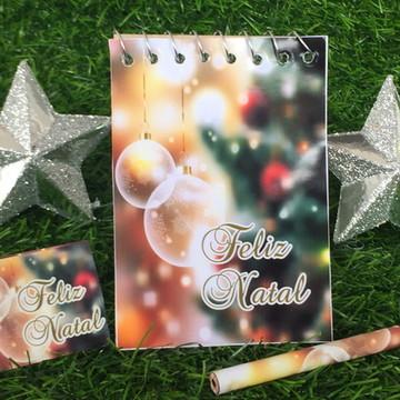 Bloquinho com mini Lápis Personalizado Natal