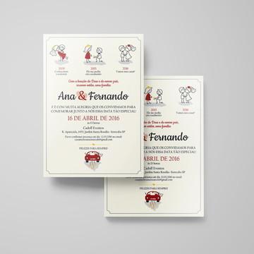Convite de Casamento PARA IMPRIMIR Ana