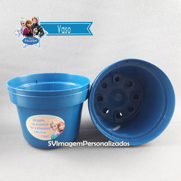 Vaso Frozen p/kit jardinagem ecológico ou cachepô