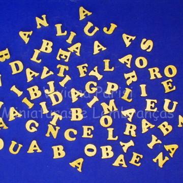 Letras de mdf dourada
