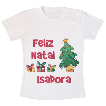 Camiseta Infantil Feliz Natal Presentes