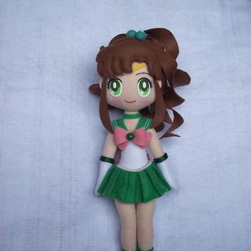 Boneca Sailor Jupiter ( Sailor Moon) em Feltro