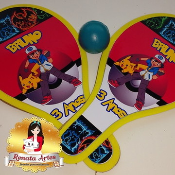 Raquetes de ping pong Pokemon