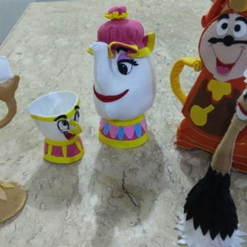 Kit personagens A Bela e a Fera feltro