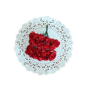 24 rosinhas de papel Vermelho