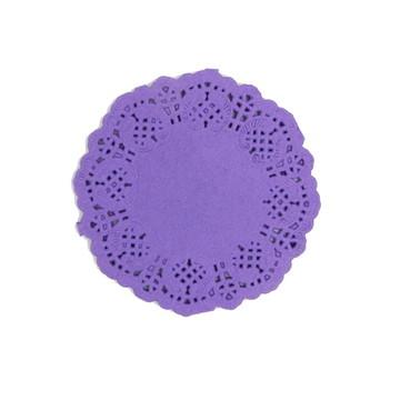 Doilies/Papel rendado Roxo 12,5 cm