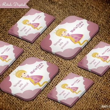 Rótulo para Marmitinha e Tag Digital - Princesas