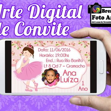 Arte Digital Convite Bailarina